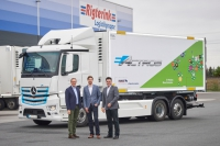 Rigterink testet E-Actros