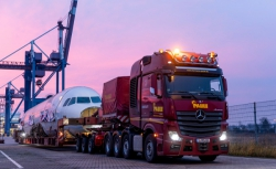 Actros transportiert Airbus